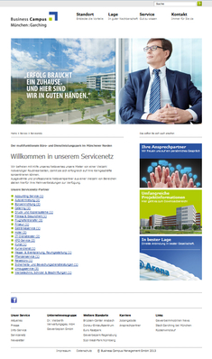 Beispielseite: Business Campus Garching