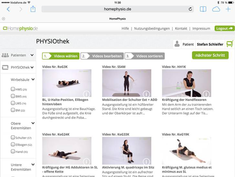 Homephysio.de - Ein neues Physiotherapie-Portal