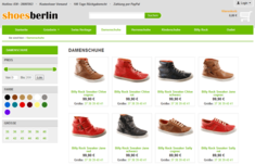 Onlineshop shoes-berlin - Desktop-Version