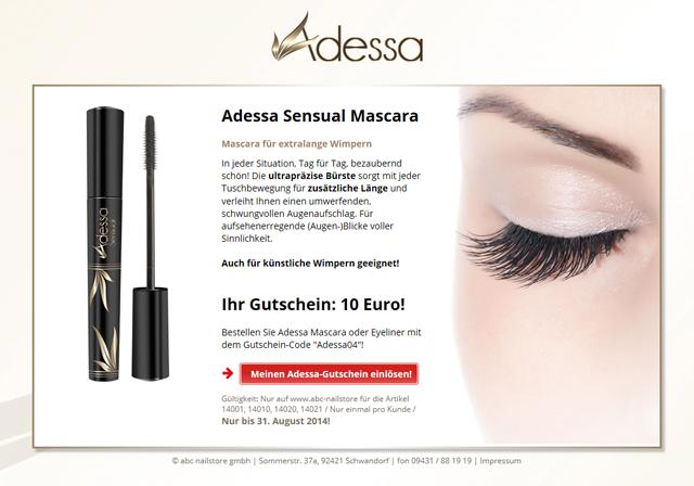 c24d7ebce1e32e Responsive Landingpage für Kosmetik-Produkte von Adessa ...